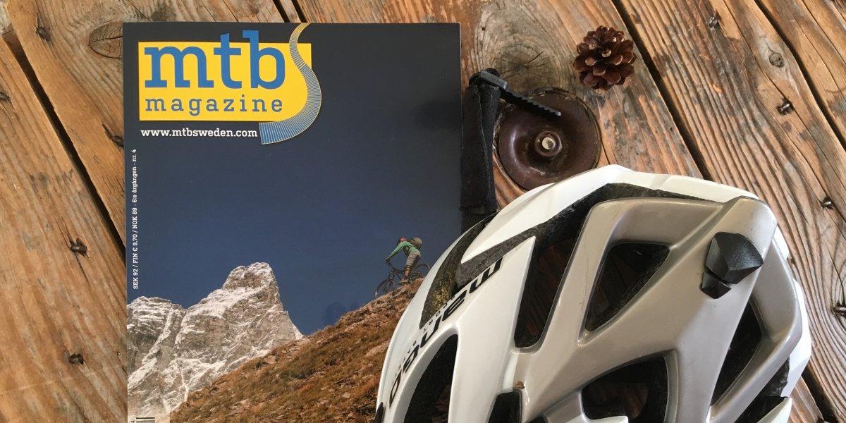 Emma cyklar MTB med Friluftsfrämjandet i Idre