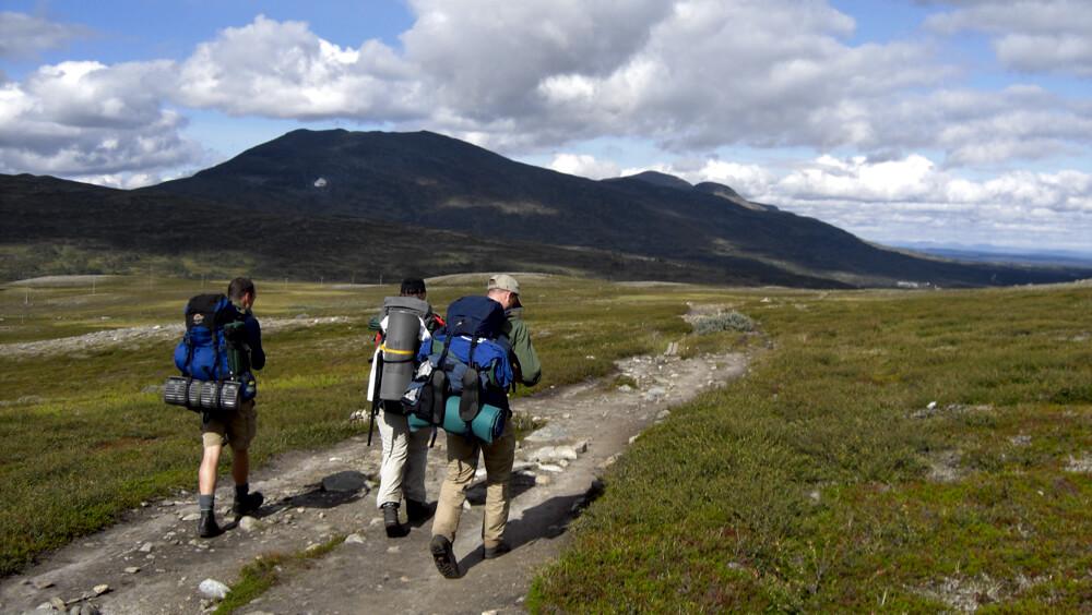 vandrare på Jämtlandstriangeln