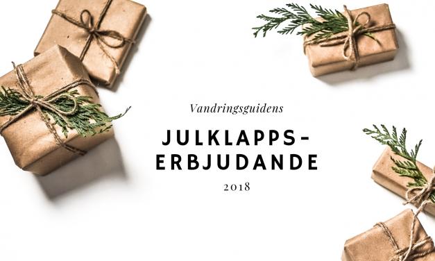 Julklappserbjudande endast för vandringsguidens läsare